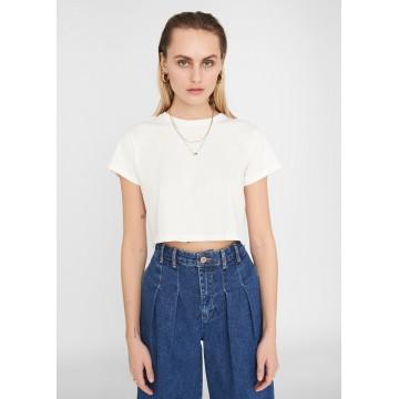 Noisy may T-Shirt 'Fran' in weiß