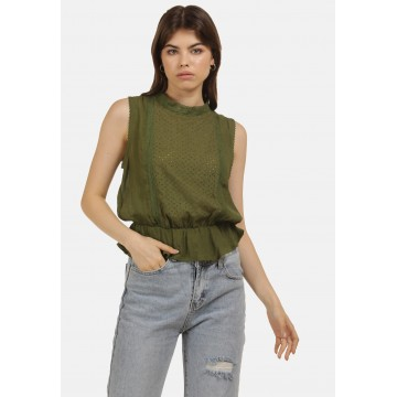 MYMO Top in oliv