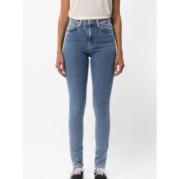Nudie Jeans Co Jeans ' Hightop Tilde ' in hellblau