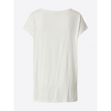 ABOUT YOU Shirt 'Antoinetta' in creme / gold / weiß