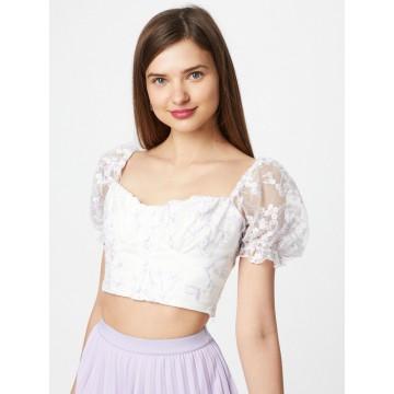 Love Triangle Shirt 'OLIVIA' in helllila / weiß