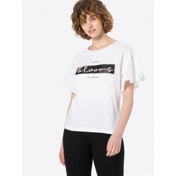 Q/S designed by T-Shirt in schwarz / weiß