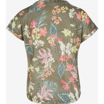 s.Oliver T-Shirt in khaki / mischfarben