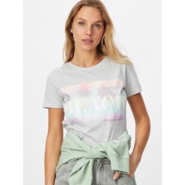 Stitch and Soul T-Shirt in hellgrau / mischfarben
