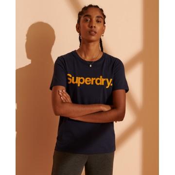 Superdry T-Shirt in marine / hellgrau
