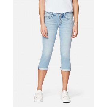 Mavi Jeans Straight Leg Capri 'ALMA' in hellblau
