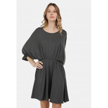 DreiMaster Vintage Kleid in dunkelgrau