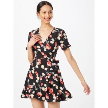 Missguided Kleid in creme / rot / schwarz