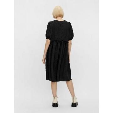 PIECES Kleid in schwarz