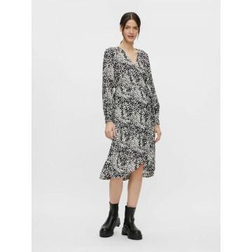 PIECES Kleid in schwarz / weiß