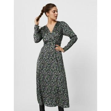 VERO MODA Kleid in grün / lila / schwarz