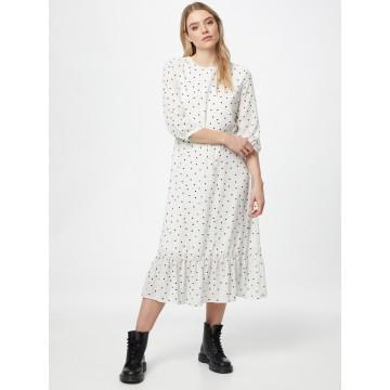 VILA Kleid 'Dotties' in dunkelgrau / schwarz / weiß