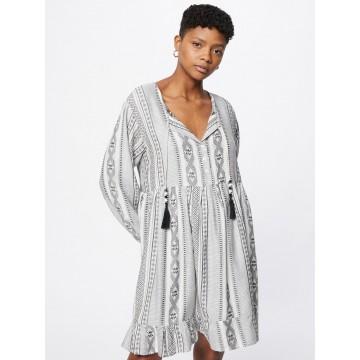 Zwillingsherz Kleid 'Nala' in grau / schwarz / weiß