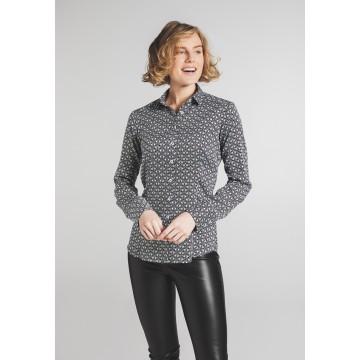 ETERNA Bluse in schwarz / weiß