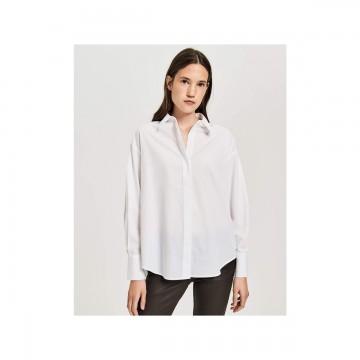 OPUS Bluse in weiß