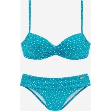LASCANA Bügel-Bikini in neonblau / weiß