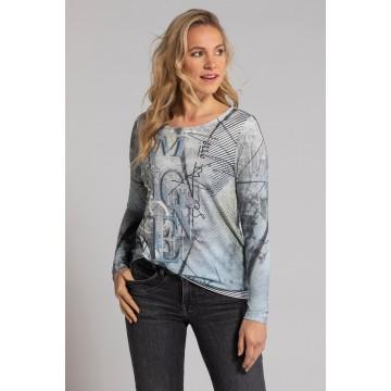 Gina Laura Shirt in grau / mischfarben