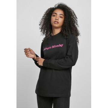 Merchcode Shirt 'Magic Monday' in pink / schwarz