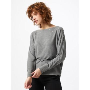s.Oliver Shirt in graumeliert / perlweiß