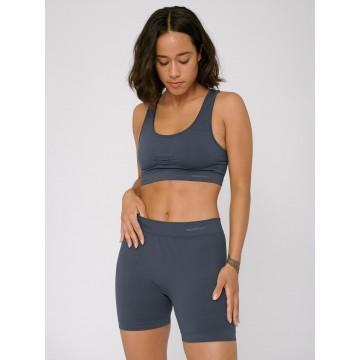 Organic Basics Hose ' Silver Tech Yoga Shorts ' in dunkelgrau