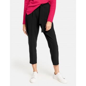 TAIFUN Hose in schwarz / weiß