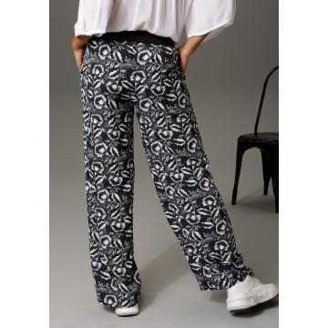 Aniston CASUAL Hose in schwarz / weiß