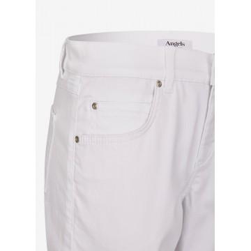 Angels Capri-Jeans ,Cici TU' mit leichter Used-Waschung in weiß