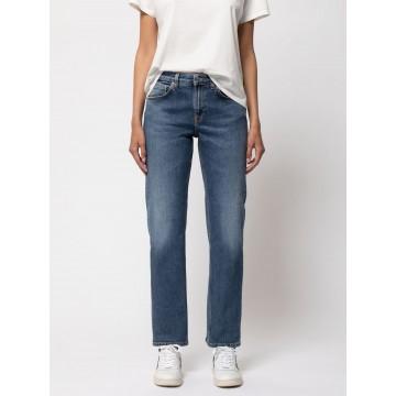 Nudie Jeans Co Jeans ' Straight Sally ' in hellblau