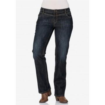 SHEEGO Stretch-Jeans mit geradem Schnitt in dunkelblau