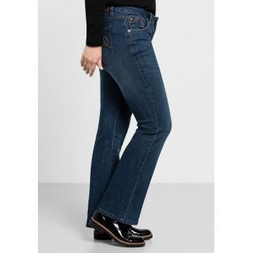 SHEEGO Bootcut-Jeans in blau
