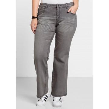 SHEEGO Bootcut-Jeans in grau