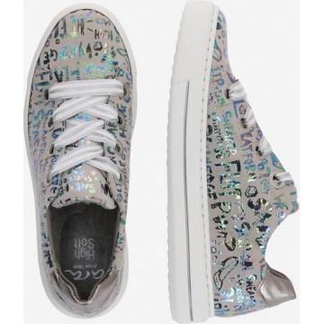 ARA Sneaker 'Letterkid Gauchosof' in grau / mischfarben