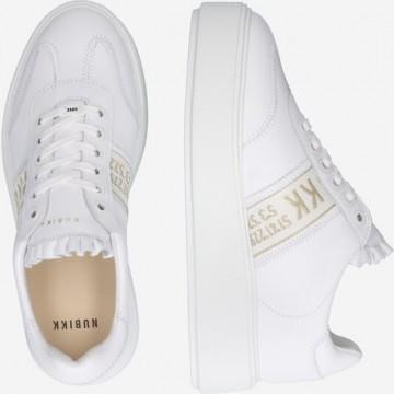 Nubikk Sneaker 'Elise' in hellbeige / weiß