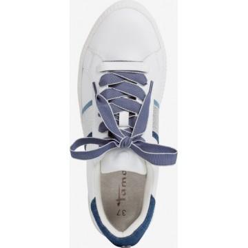 TAMARIS Sneaker in blau / weiß