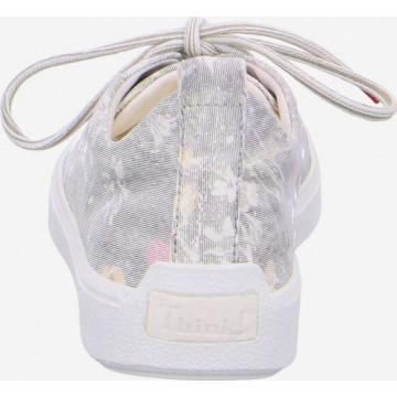 THINK! Sneaker in pastellgelb / hellgrau / pastelllila / rosa / weiß