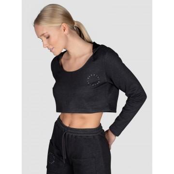 MOROTAI Sportsweatshirt in anthrazit / weiß