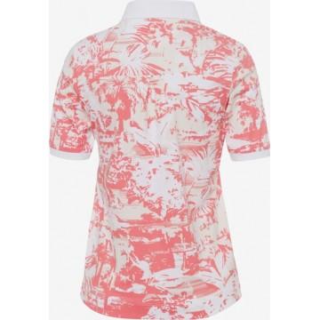 BRAX Shirt 'Cleo' in creme / koralle / weiß