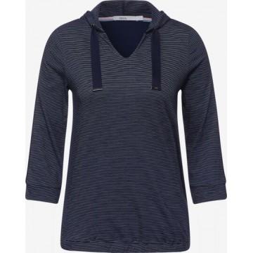 CECIL Shirt in marine / weiß